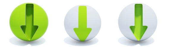 сфера стрелок зеленая Стоковые Изображения