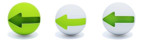 сфера стрелок зеленая Стоковое Изображение