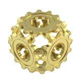 Сфера сделанная из изолированных шестерней cogwheel Стоковые Фото