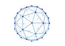 Сфера с соединением выравнивается для концепции технологии, конспекта sh Стоковые Изображения