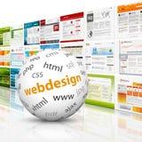 Сфера с шаблонами веб-дизайна Стоковые Изображения