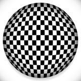Сфера с Checkered картиной Стоковые Изображения