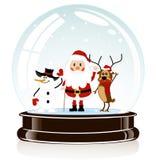 Сфера с Santa Claus иллюстрация вектора