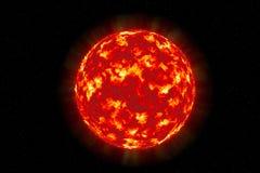 Сфера текстуры Солнця солнечная поверхностная Стоковое Изображение