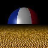 Сфера флага француза и радиоактивная иллюстрация предупредительных знаков иллюстрация вектора