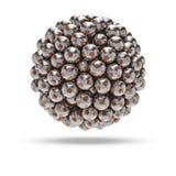 Сфера футбольного мяча металла Стоковое Изображение RF