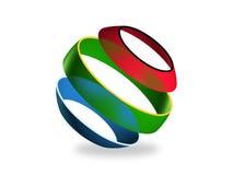 Сфера цвета, 3d Стоковые Изображения RF