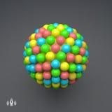 сфера шаблон вектора 3d абстрактная иллюстрация сферы 3d Стоковые Изображения RF