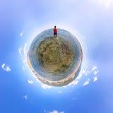 Сферически панорама 360 180 укомплектовывает личным составом положение в море Стоковое Изображение RF