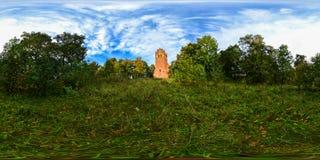 Сферически панорама церков лютеранина Святого Katerina в s Стоковые Фотографии RF