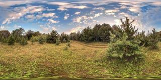 сферически панорама 3D с углом наблюдения 360 градусов Подготавливайте для виртуальной реальности в vr Польностью equirectangular Стоковые Изображения