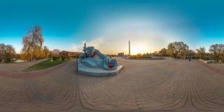 сферически панорама 3D с углом наблюдения 360 Подготавливайте для виртуальной реальности или VR Польностью equirectangular проекц стоковая фотография rf