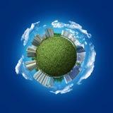Сферически современный абстрактный город Стоковое Фото