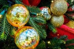 Сферы или безделушки рождества Стоковое Фото