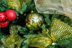 Сферы или безделушки рождества Стоковая Фотография RF