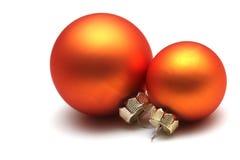 сферы померанца рождества Стоковые Фото