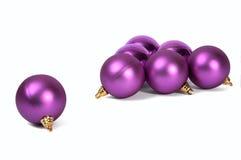 сферы рождества лиловые Стоковое Фото
