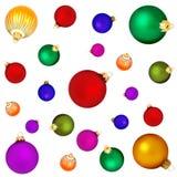 сферы рождества предпосылки Стоковое Изображение