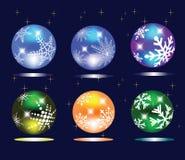 сферы рождества Стоковая Фотография RF