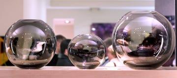 сферы украшений стеклянные нутряные Стоковые Изображения