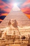 сфинкс ландшафта Египета Стоковые Фотографии RF