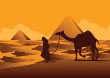 Сфинкс, ориентир ориентир пирамиды известный Египта, стиля силуэта Стоковое Фото