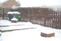 Сфокусированный снег Стоковые Изображения RF