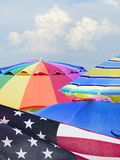 Сфокусируйте штабелированное фоновое изображение 4-ого из торжества в июле на f Стоковое фото RF