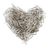 сформированная влюбленность сердца принципиальной схемы скрепляет канцелярские принадлежности Стоковое Фото