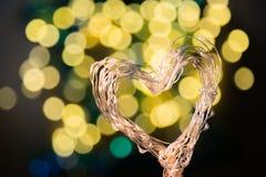 Сформированная сердцем запачканная праздником предпосылка bokeh Backgro валентинки стоковые изображения
