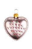 Сформированная сердцем игрушка рождества Стоковое Изображение RF