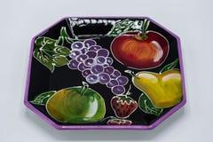 Сформированное восьмиугольное 6 плитам плода дюйма в разносторонних цветах стоковое изображение