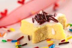 сформированное печенье шоколада брызгает звезду Стоковые Изображения