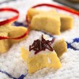 сформированное печенье шоколада брызгает звезду Стоковая Фотография RF