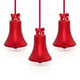 сформированное рождество колокола baubles Стоковая Фотография RF