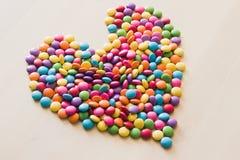 Сформированное сердце конфеты сахара Стоковые Фото