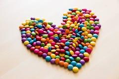 Сформированное сердце конфеты сахара Стоковое фото RF