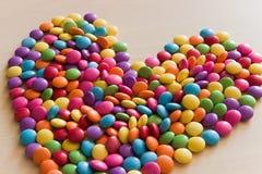 Сформированное сердце конфеты сахара Стоковое Фото