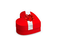 сформированное сердце коробки закрытое Стоковая Фотография