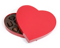 сформированное сердце коробки Стоковая Фотография RF