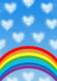 сформированное сердце облака Стоковые Фотографии RF