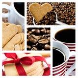 сформированное сердце печений кофе Стоковое Изображение