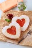 сформированное сердце печений Стоковая Фотография