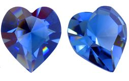 сформированное сердце самоцвета Стоковое фото RF
