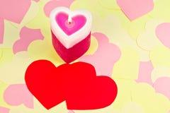 сформированное сердце свечки Стоковая Фотография RF