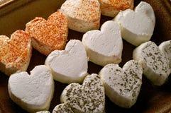 сформированное сердце сыра свежее Стоковые Фотографии RF