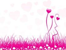 сформированное сердце цветка предпосылки Стоковое Изображение RF