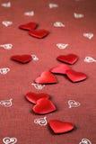 сформированное сердце confetti Стоковые Фото