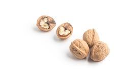 Сформированное сердце грецких орехов Стоковые Изображения