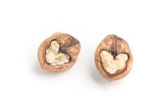 Сформированное сердце грецких орехов Стоковая Фотография RF